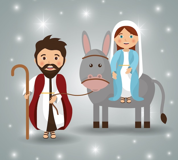 Frohe weihnachten cartoons