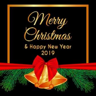 Frohe weihnachten dekoration kronleuchter und sterne gold