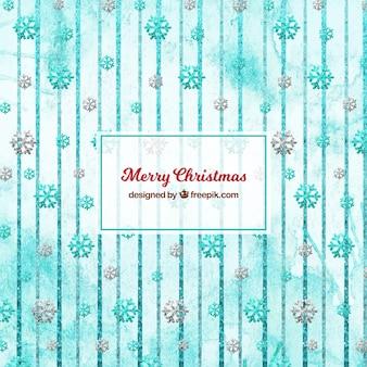 Frohe weihnachten dekorationen mit kugeln und schneeflocken