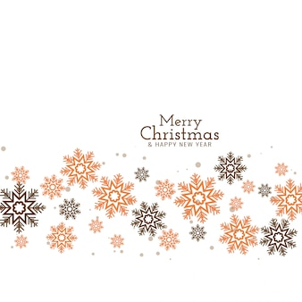 Frohe weihnachten dekorative fließende schneeflocken