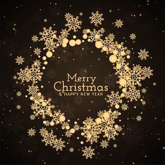 Frohe weihnachten dekorativen festlichen hintergrund