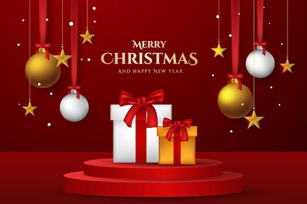 Frohe weihnachten-design-hintergrund
