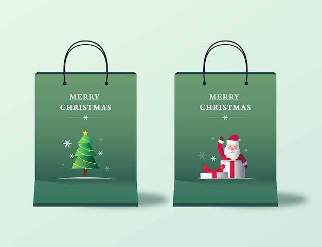 Frohe weihnachten einkaufstasche