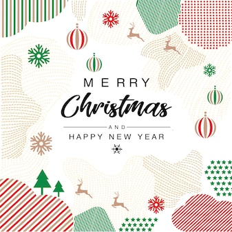 Frohe weihnachten einladung trendy