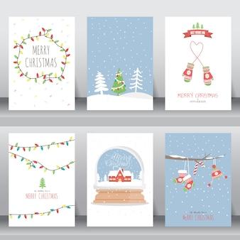 Frohe weihnachten einladung und grußkarte