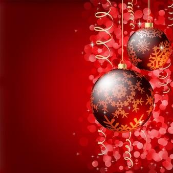 Frohe weihnachten eleganter hintergrund.