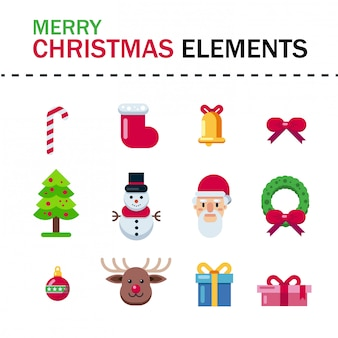 Frohe weihnachten elemente
