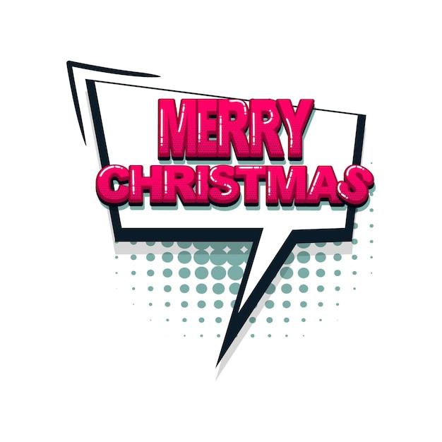 Frohe weihnachten farbige comic-textsammlung soundeffekte pop-art-stil vektor-sprechblase