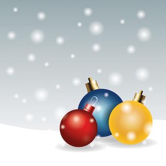 Frohe weihnachten feiertagsfeier der bereiche dekoration