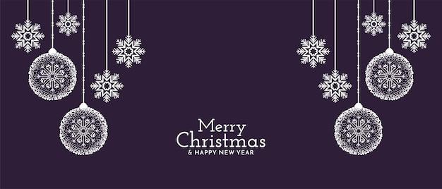 Frohe weihnachten festival dekorativ