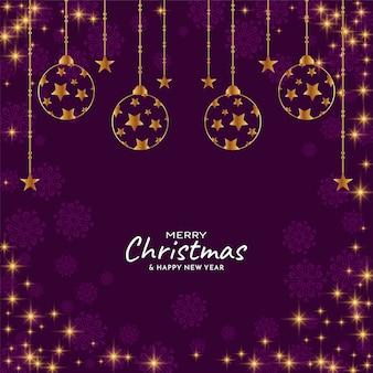 Frohe weihnachten festival glänzende sterne hintergrund