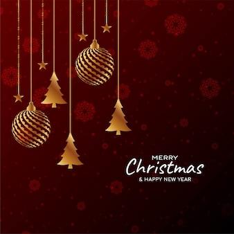 Frohe weihnachten festivalfeier hintergrund