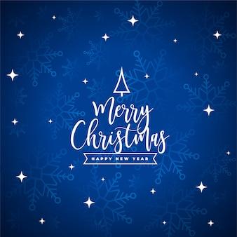 Frohe weihnachten festkarte mit schneeflocken