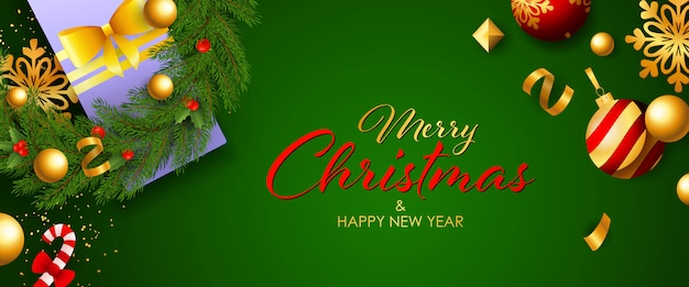Frohe weihnachten festliche banner