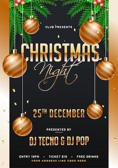 Frohe Weihnachten Flyer.