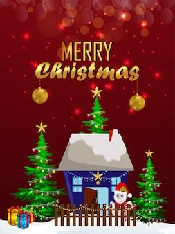 Frohe weihnachten & frohes neues jahr feier party flyer