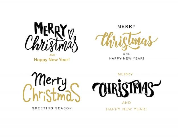 Frohe weihnachten & frohes neues jahr grußkarten vorlagen. handbeschriftungstext für winterferien.