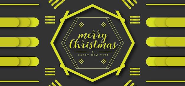 Frohe weihnachten frohes neues jahr hintergrund weihnachtselemente premium-vektor