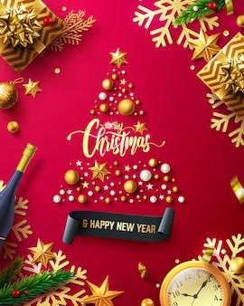 Frohe weihnachten & frohes neues jahr promotion banner