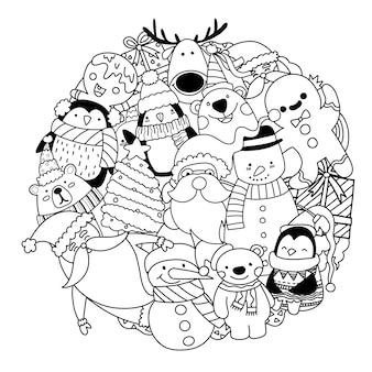 Frohe weihnachten gekritzel