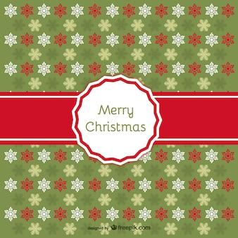 Frohe weihnachten gemusterten hintergrund