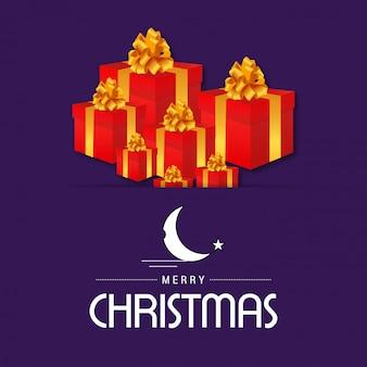 Frohe weihnachten geschenkbox hintergrund