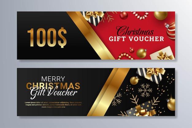 Frohe weihnachten geschenkgutschein designvorlage