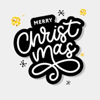Frohe weihnachten gold glitzernden schriftzug