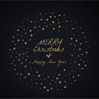 Frohe weihnachten gruß entwurf mit sternen dekoration gemacht