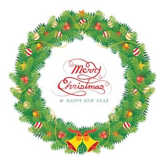 Frohe weihnachten gruß im rahmen