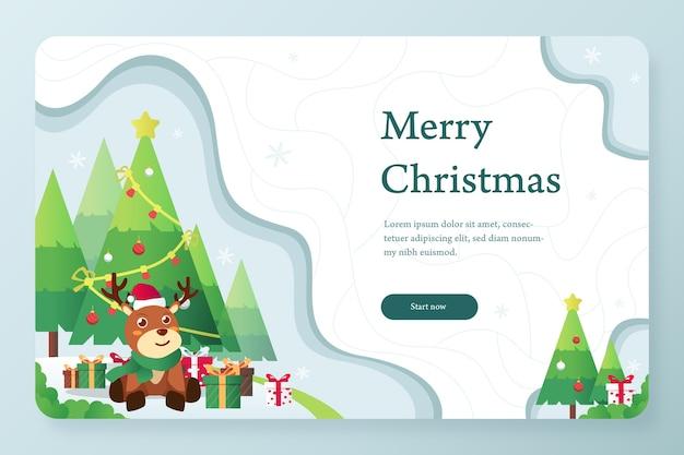 Frohe weihnachten grußkarte design-vorlage
