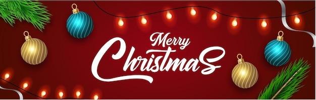 Frohe weihnachten grußkarte mit dekoration