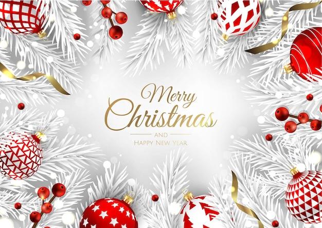 Frohe weihnachten grußkarte mit neujahrsbaum