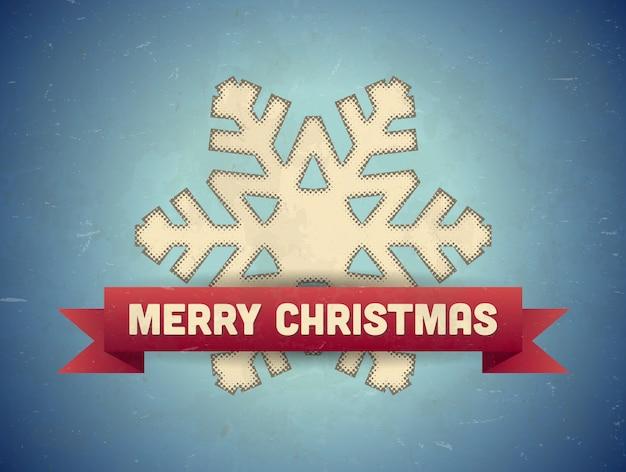 Frohe weihnachten grußkarte mit schneeflocke