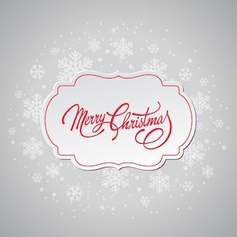 Frohe weihnachten grußkarte mit schneeflocken