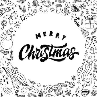 Frohe weihnachten grußkarte, poster, drucken