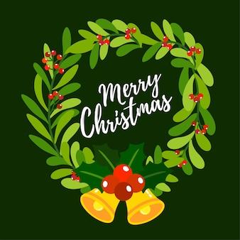 Frohe Weihnachten Grußkarte.