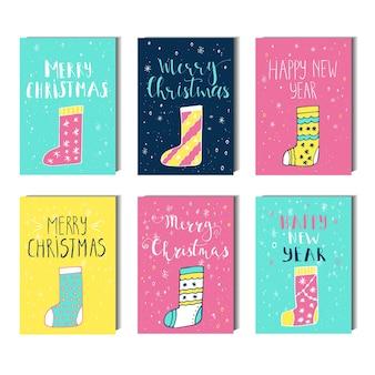 Frohe weihnachten, guten rutsch ins neue jahr-textetikett auf einem winterhintergrund mit schnee und schneeflocken. grußkartenvorlage, poster mit zitat. t-shirt-design, kartendesign oder wohnkulturelement. vektor.