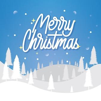 Frohe weihnachten handllettering poster design