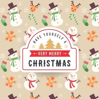 Frohe weihnachten hintergrund design
