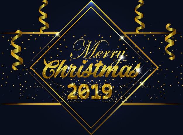Frohe weihnachten hintergrund gold schriftzug