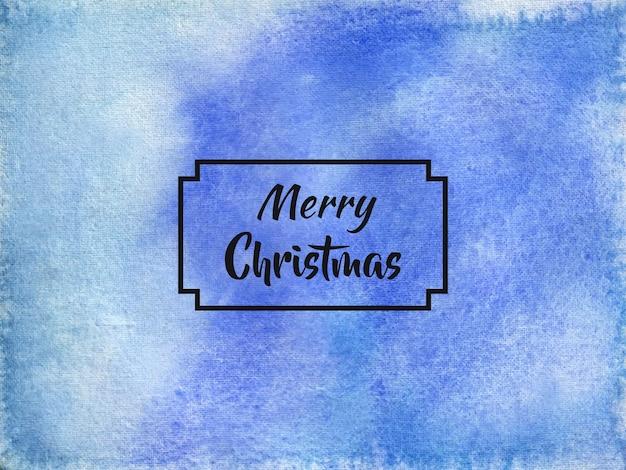 Frohe weihnachten hintergrund im aquarellstil