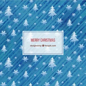 Frohe weihnachten hintergrund in blautönen