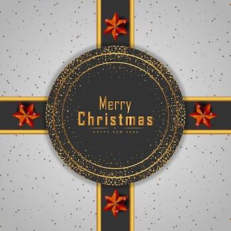 Frohe weihnachten hintergrund mit leuchtenden punkten und roten sternen vektor premium