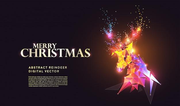 Frohe weihnachten hintergrund mit rentier