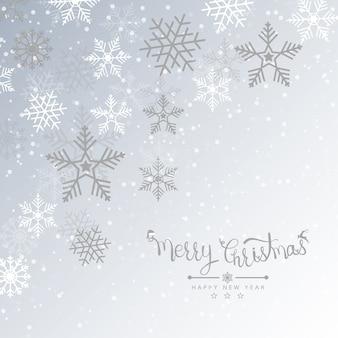 Frohe weihnachten hintergrund mit schnee für urlaub