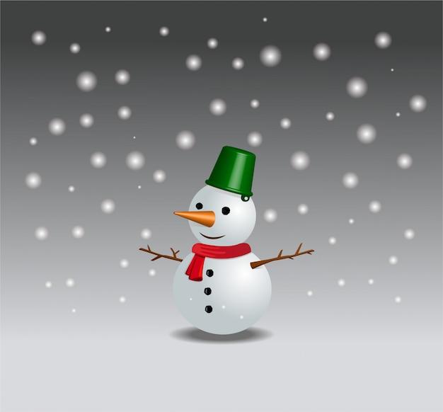 Frohe weihnachten hintergrund mit schneemann