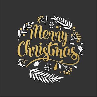 Frohe weihnachten hintergrund mit typografie, schriftzug. grußkarte, banner und plakatschablone