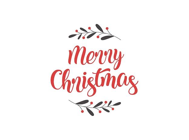 Frohe weihnachten hintergrund mit typografie