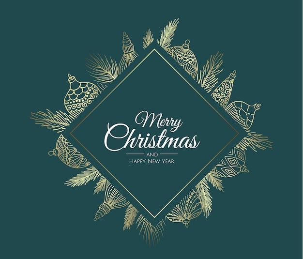 Frohe weihnachten hintergrund mit weihnachten element.